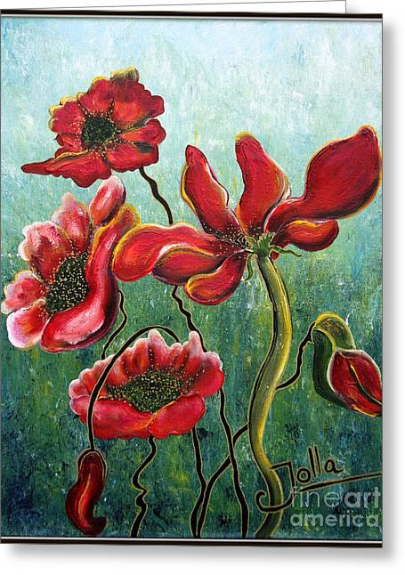 Endless Poppy Love Greeting Card
