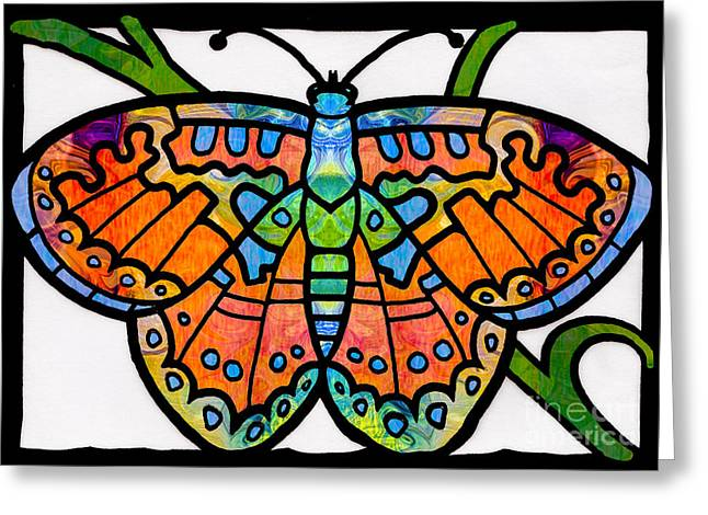 Endless Possibilities Abstract Butterfly Art By Omaste Witkowski Greeting Card