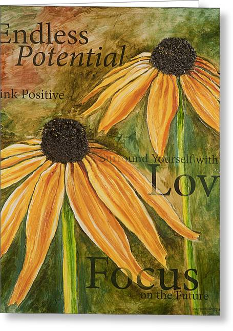 Greeting Card featuring the painting Endless Potential by Lisa Fiedler Jaworski
