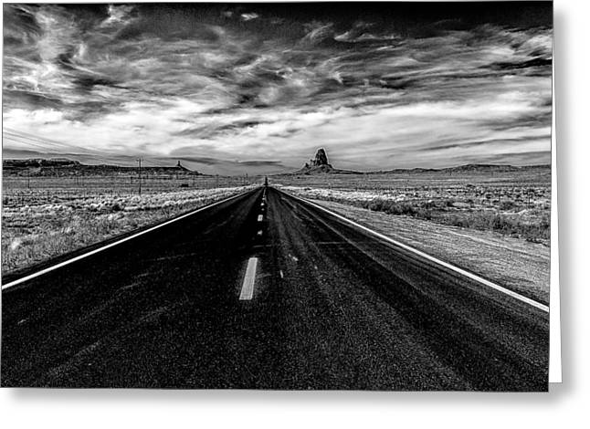 Greeting Card featuring the photograph Endless Road Rt 163 by Louis Dallara