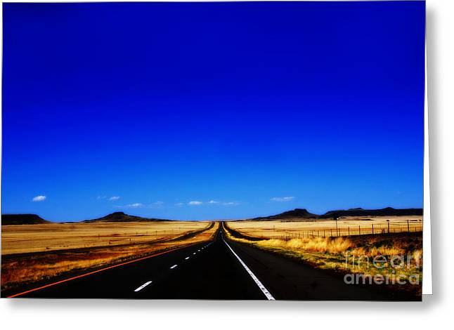 Endless Roads In New Mexico Greeting Card by Susanne Van Hulst