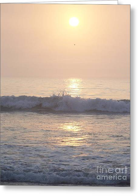 Hampton Beach Wave Ends With A Splash Greeting Card by Eunice Miller