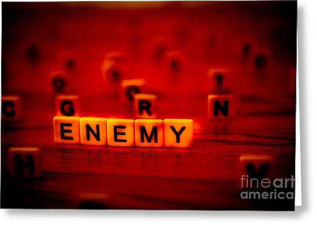 Enemy Greeting Card by Liesl Marelli
