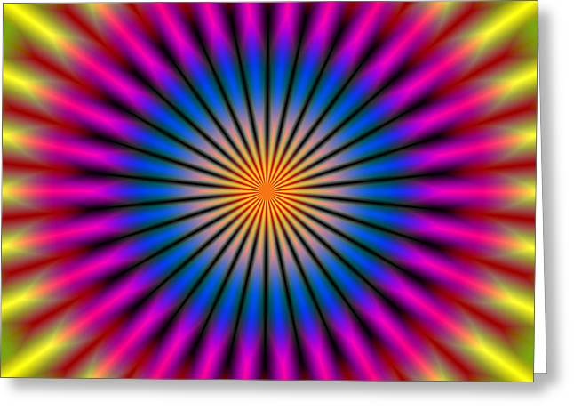 Energetic Hypno Disc Greeting Card by Daniel Hagerman