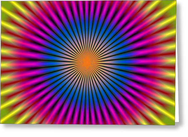 Energetic Hypno Disc Rectangular Greeting Card by Daniel Hagerman