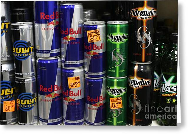Energy Drinks For Sale Greeting Card by Ria Novosti