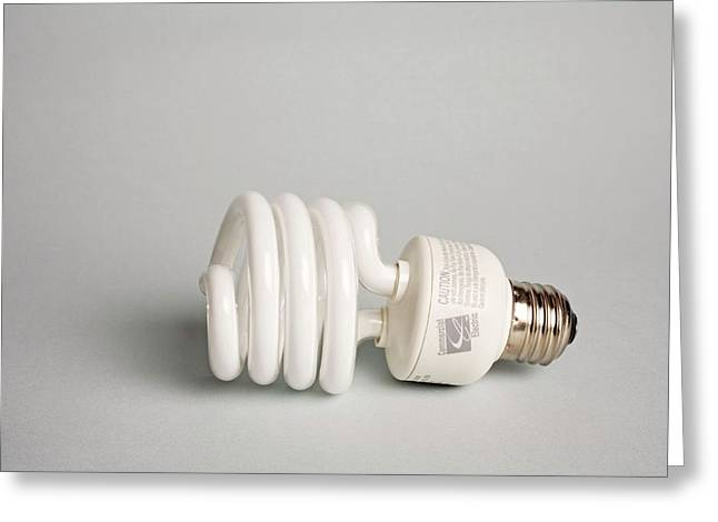 energy efficient light bulb greeting card