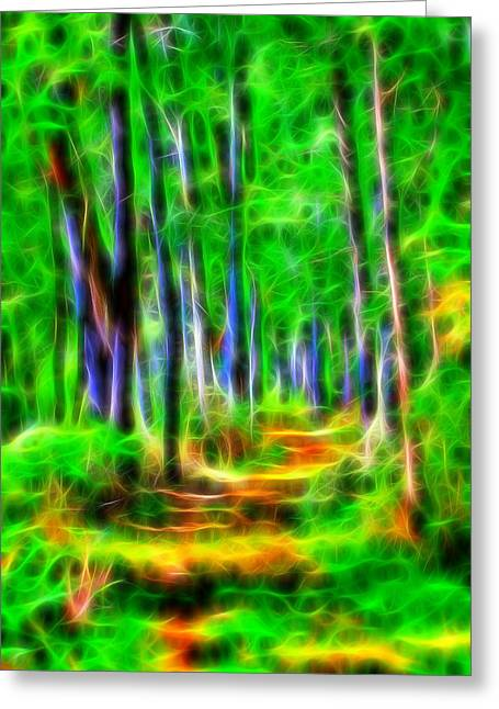 Energy Of The Forest Greeting Card by Dan Sproul