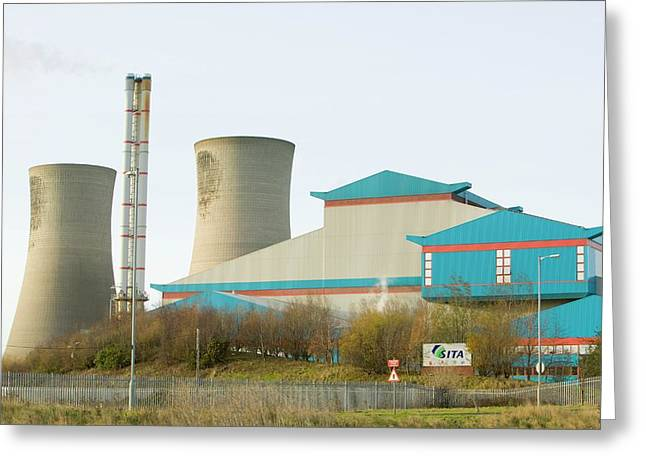 Energy Plant That Burns Household Waste Greeting Card