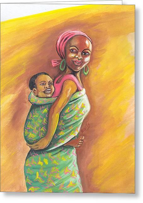 Enfance De Reves Greeting Card by Emmanuel Baliyanga