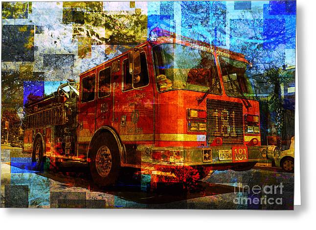 Engine 181 Greeting Card by Robert Ball