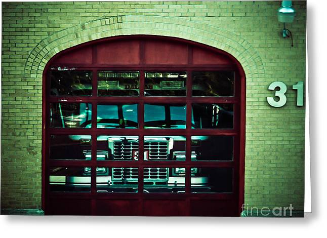 Engine 31 Greeting Card by Angela Wright