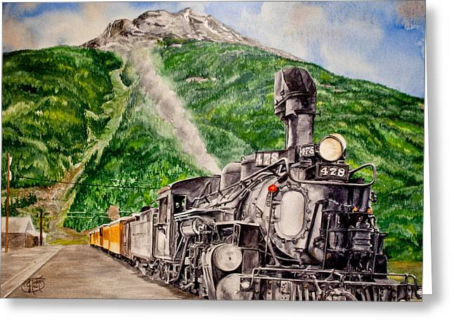 Engine 478 Greeting Card by Jessica Tookey