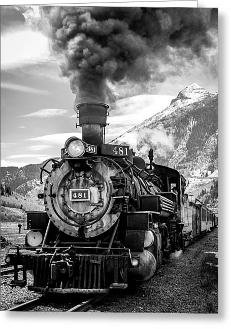 Engine 481 Greeting Card by Robert Yone