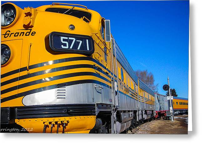 Greeting Card featuring the photograph Engine 5771 by Shannon Harrington