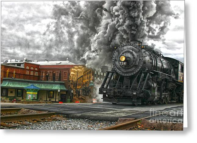 Engine 734 On The Western Maryland Scenic Railroad  Greeting Card