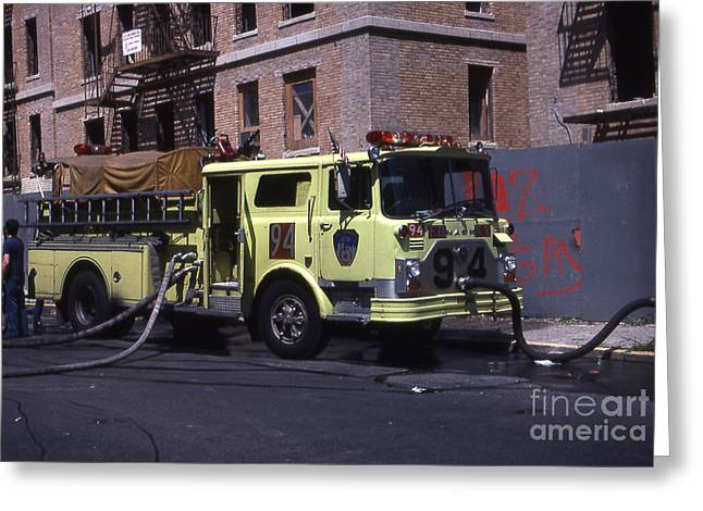 Engine 94 Fdny Lime Greeting Card