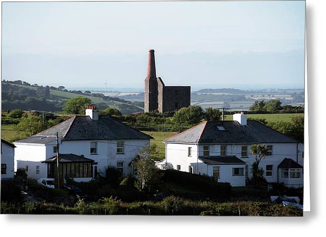 Engine House Chimney At Minions Greeting Card by Sinclair Stammers
