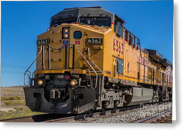 Engine No 6563 Greeting Card by Jerry Fornarotto