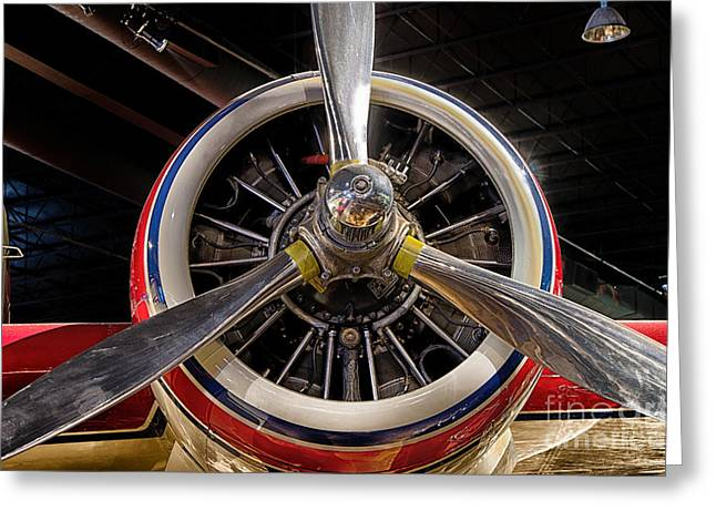 Engine Of Grumman G-73 Mallard Greeting Card by JRP Photography