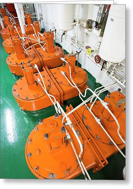 Engine Room On Russian Research Vessel Greeting Card