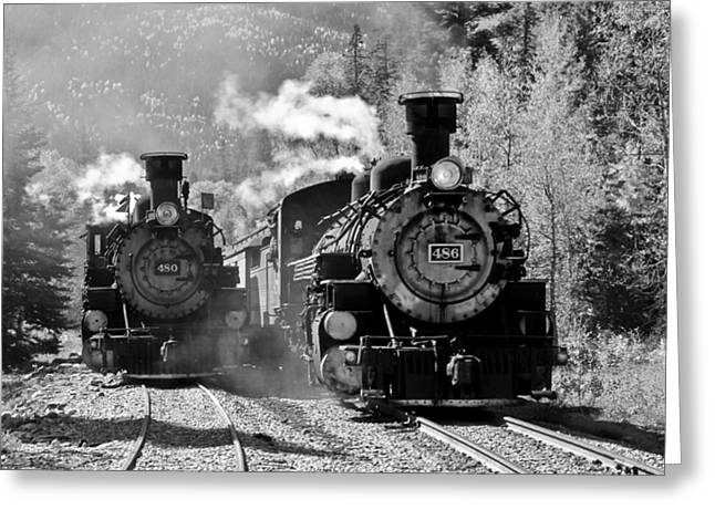 Engines 480 And 486 Greeting Card by Marta Alfred