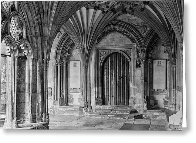 England, Beckett Door Canterbury Greeting Card by John Ford