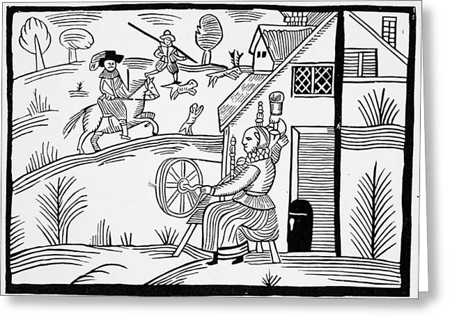 England Daily Life Greeting Card by Granger