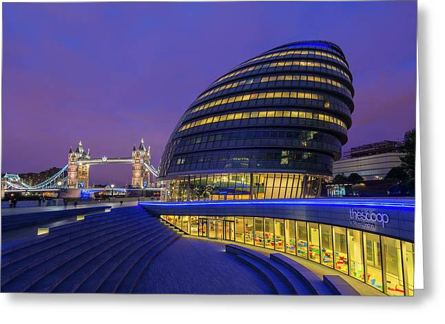 England, London City Hall And The Tower Greeting Card