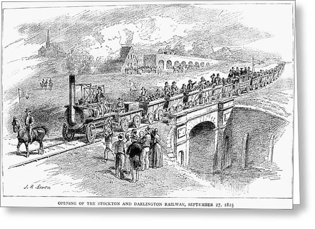 England Railway, 1825 Greeting Card by Granger