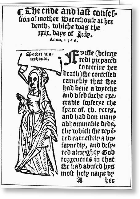 England Witch Trial, 1566 Greeting Card