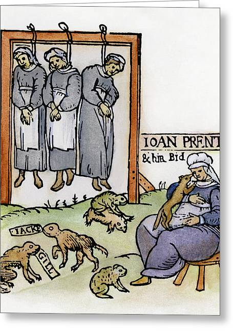 England Witches, 1589 Greeting Card