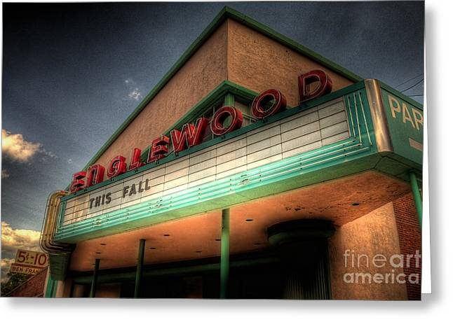 Englewood Theater 4507 Greeting Card by Timothy Bischoff