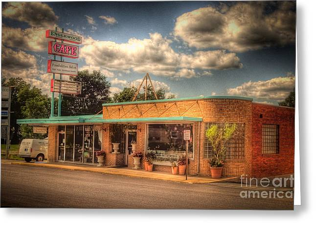 Englewoodcafe4536-4-5 Greeting Card by Timothy Bischoff