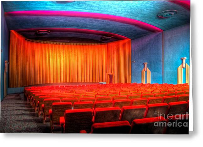 Englewoodtheater4627-8-9 Greeting Card by Timothy Bischoff