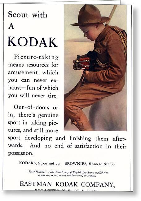English Boy Scout. Circa 1913. Greeting Card
