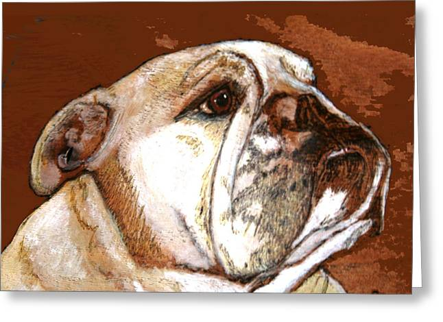 English Bulldog  Greeting Card by Jeanie Beline