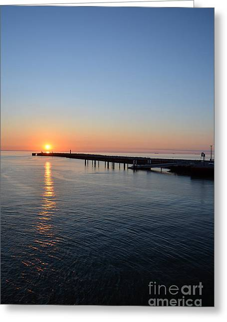 English Channel Sunset Greeting Card