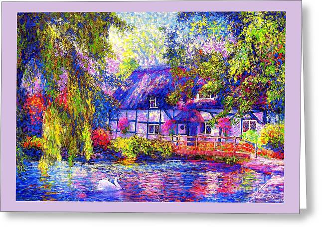 English Cottage Greeting Card