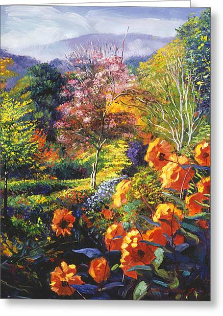 English Country Colors Greeting Card by David Lloyd Glover