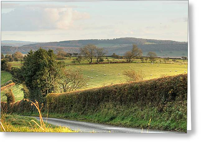 English Countryside In Early Winter Greeting Card
