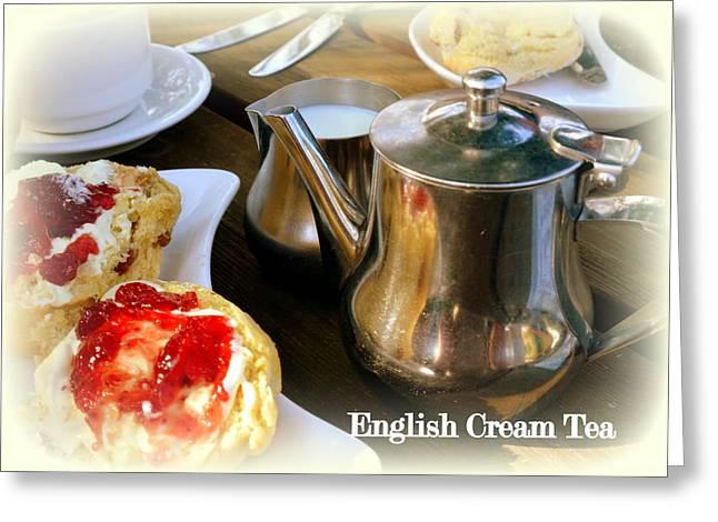 English Cream Tea Greeting Card