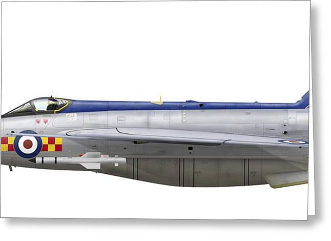 English Electric Lightning F2 Greeting Card by Inkworm