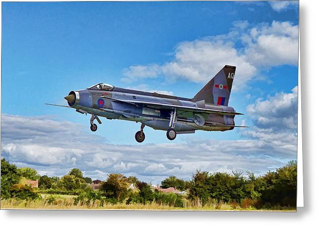 Greeting Card featuring the photograph English Electric Lightning by Paul Gulliver