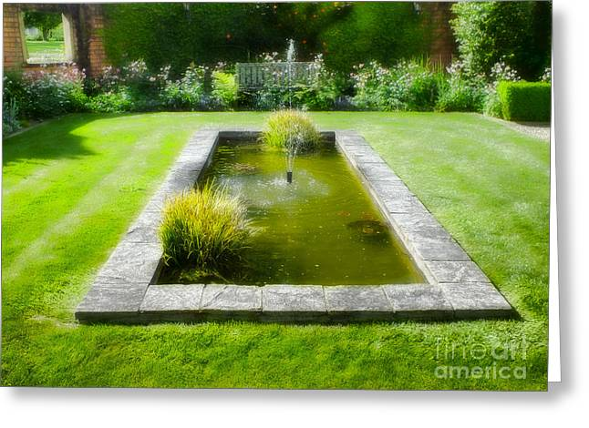 English Garden Greeting Card by Karen Lewis