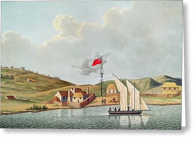 English Missionaries In Kidikidi, New Zealand, From Voyage Autour Du Monde Sur Les Corvettes De Greeting Card