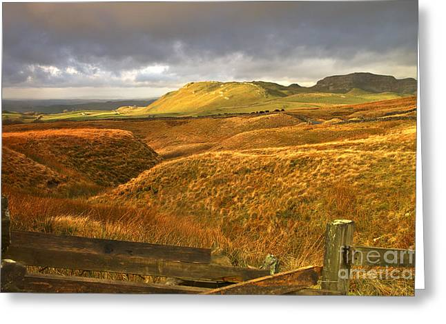 English Moorland Landscape Greeting Card