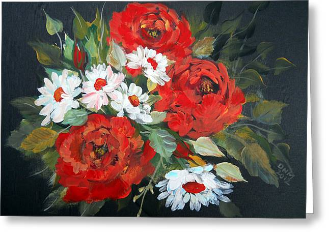 English Roses Greeting Card by Dorothy Maier