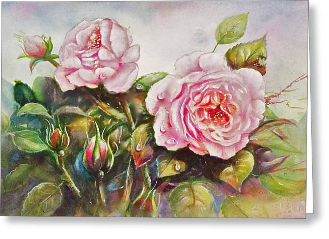 English Roses Greeting Card
