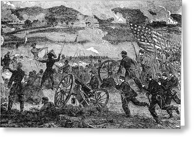 Engraving Of General Pickett Greeting Card